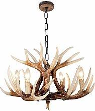 Antler Light,E14 Vintage Resin Ceiling Chandelier