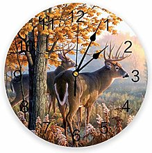 Antlers Decor PVC Wall Clock, Silent Non-Ticking