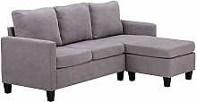 AntsGroup L-shaped sofa bed with 3 x pillows,
