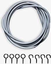 ANYDAY John Lewis & Partners Curtain Wire Kit With