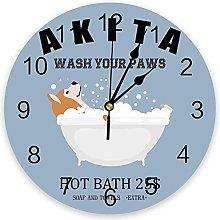 Anyuwerw Animals Wood Wall Clock,Silent