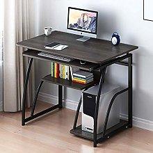 Anzkzo Desk with Bookshelf Computer Desk Wood