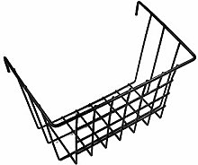 ANZOME Grid Basket, Wire Wall Basket With Hooks,