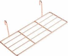 ANZOME Straight Shelf, Wall Shelf with Hook, Wire