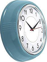 Aobay wall clock Retro Wall Clock 9.5 Inch Red