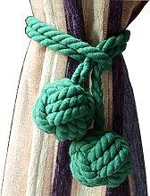 AoDao 2pcs Curtain Holdbacks Hand Knitting Braided