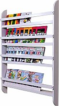 AOIWE Bookcase Bookshelf and Bookcase 4-Tiers