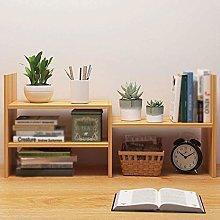 AOIWE Bookcase Desktop Bookcase Mini Bookshelf
