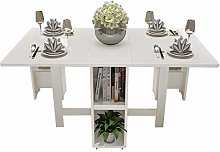 AOIWE White Dining Table Picnic Table Chair A