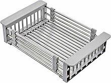 AoJuy Stainless Steel Retractable Drain