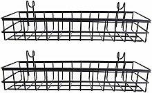 Aokshen 2X Wall Mount Grid Panel Hanging Tray Mesh