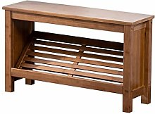 AOLI Entryway Shoe Bench, Bamboo Shoe Cabinet,