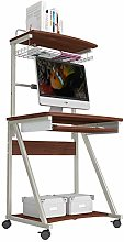 AOLI Mobile Standing Desk Portable 2 Tier Portable