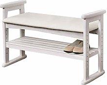 AOLI Shoe Cabinet Wooden Shoe Rack Ottoman Bench