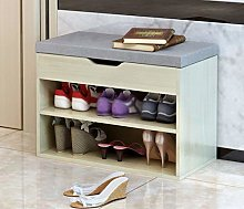 AOLI Shoe Rack Change Bench Shoe Box Nordic