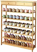 AOLI Shoe Rack in Natural Bamboo with 3-6 Floors