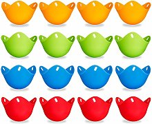 Aoliandatong 16 Pack Silicone Egg Poacher Cups,