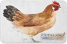 AoLismini Bath Mat Catalana Hen Poultry Farming
