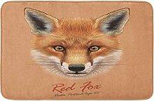 AoLismini Bath Mat Fox Animal F Cute Red Head
