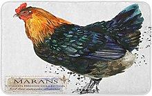 AoLismini Bath Mat Marans Hen Poultry Farming