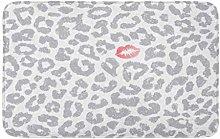 AoLismini Bath Mat Silver Animal n Leopard Kiss