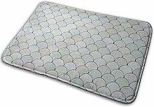 AoLismini Doormats Bath Rugs Outdoor/Carpet Gray