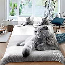 Aolomp 2/3pcs Bedding Set 3D Cute animal cat