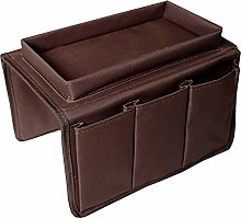 AOLVO Sofa Armrest Organizer With Tray Couch Chair