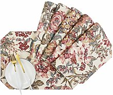 Aonewoe Printed Cotton Placemats Double Printed