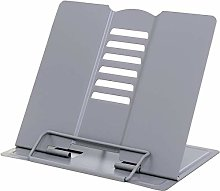 AOOA Metal Book Stand Cookbook Holder Adjustable