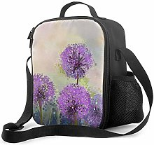 AOOEDM Lunch Bag Insulated Lunch Box Purple