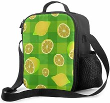 AOOEDM Lunch Bag Insulated Lunch Box Yellow Lemons
