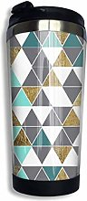 AOOEDM Modern Gray White Teal and Faux Gold