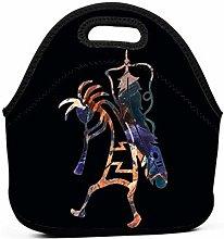 AOOEDM Native Art Kokopelli Lunch Bags for Women