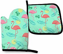 AOOEDM Pink Coral Flamingo Palm Leaves Heat