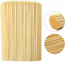 AooQie Bamboo Sticks 40cm x 500 Wooden Skewers