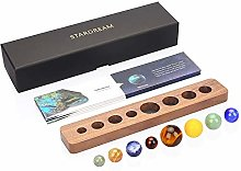 aoory Desk Planets Handcraft Natural Gemstone Gift