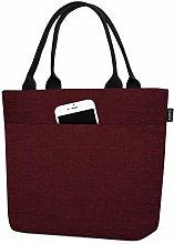 Aosbos Lunch Bag Black Handbag Food Tote Cooler