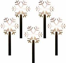 Aosong 5 Pcs Christmas LED Stake Lights Christmas