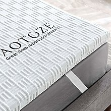 AOTOZE Mattress Topper Double, Includes Cover with