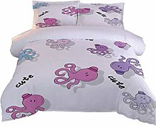 AOUAURO Double Duvet Cover Set Baby octopus