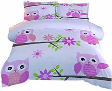 AOUAURO Double Duvet Cover Set Baby Owl Bedding