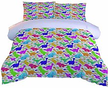 AOUAURO Double Duvet Cover Set Color dinosaur baby