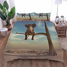 AOUAURO King size Duvet Cover Set Baby elephant