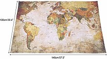 Aoutecen affordable polyester and sponge World Map