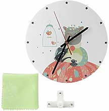 Aoutecen Quiet Wall Clock Fashion Retro for Home