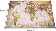 Aoutecen Slip World Map Rug earth-friendly World