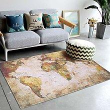 Aoutecen Slip World Map Rug World Map Mat