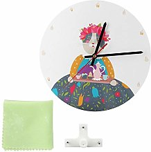 Aoutecen Wall Clock Fashion Retro Easy to Install