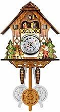 AOXING Cuckoo Wall Clock Retro Clock Wooden Living